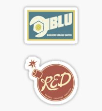 RED & BLU Sticker