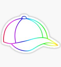 Rainbow Baseball Cap Sticker