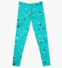 Abstract Cracked Texture Leggings