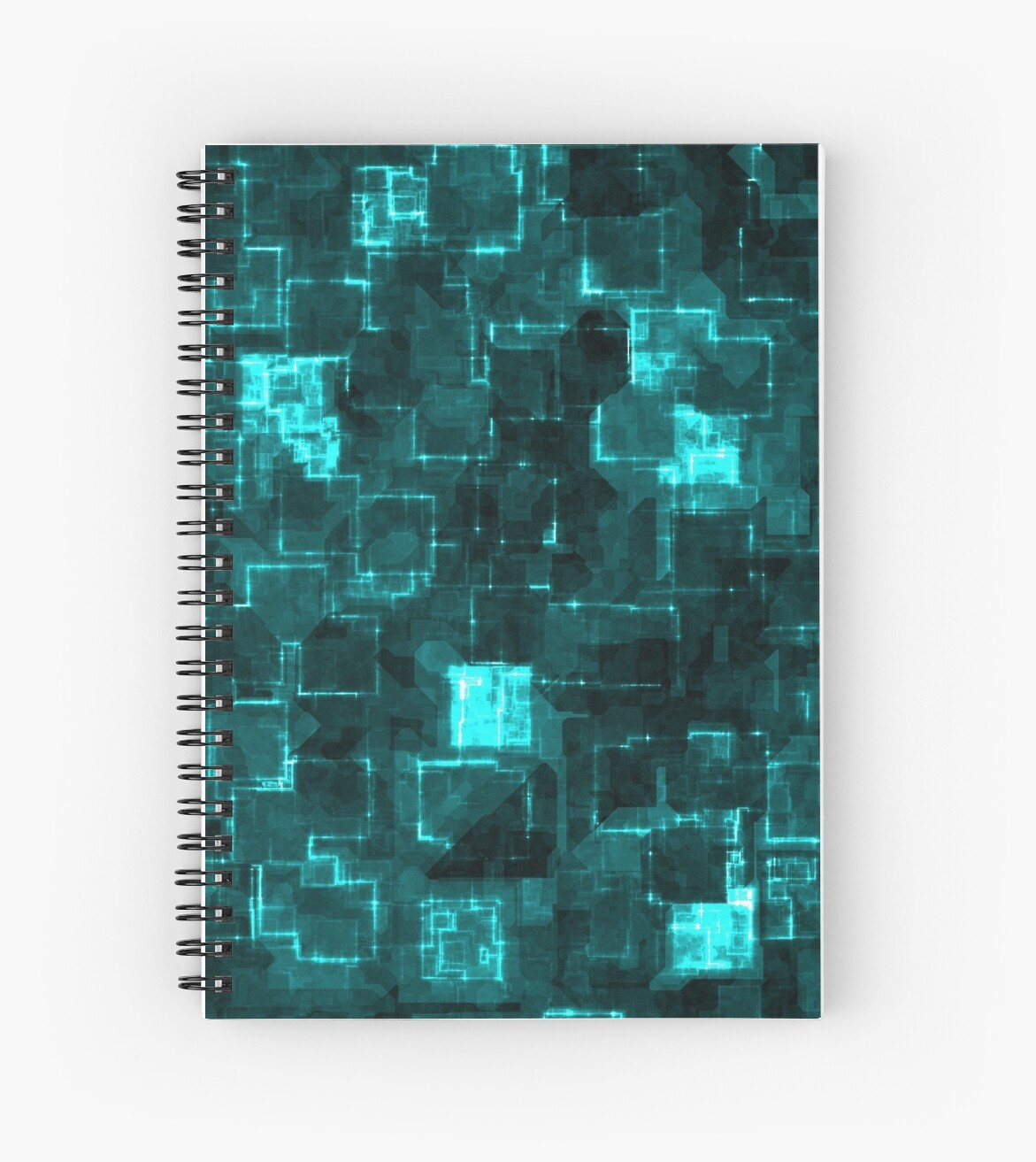Digital Aqua Glimmer Tiles by futureimaging