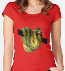 Green Tree Python Reptile Photography  Women's Fitted Scoop T-Shirt