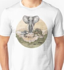 Elephant turtle condor tea time Unisex T-Shirt