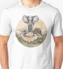 Elephant turtle condor tea time T-Shirt