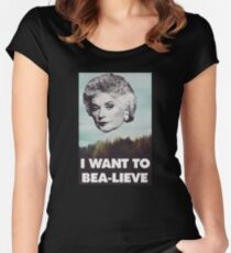 Bea Arthur - I want to Bea-lieve Women's Fitted Scoop T-Shirt