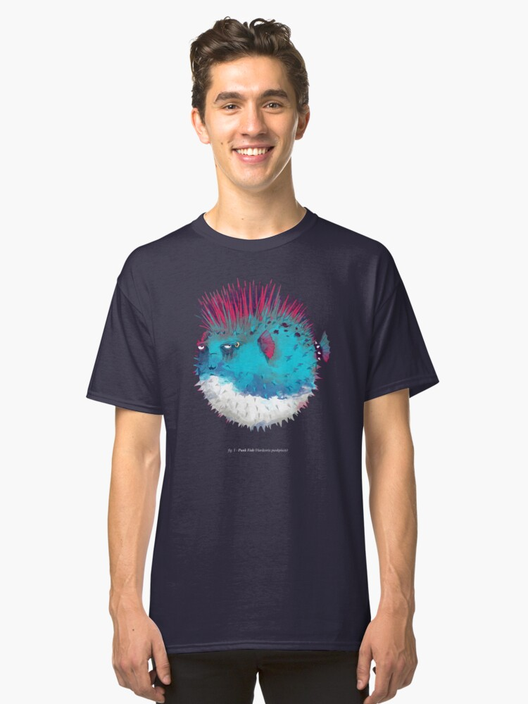 Punk Fish Classic T-Shirt Front