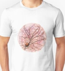 Dendritic tree and spines of an hippocampal neuron - watercolour - Pink T-Shirt