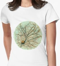 Dendritic tree and spines of an hippocampal neuron - watercolor - green Women's Fitted T-Shirt