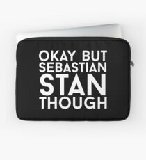 Sebastian Stan - White Text Laptop Sleeve
