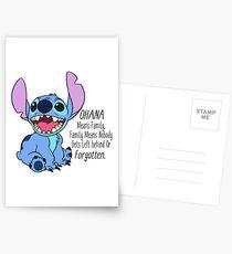 Postales Lilo y Stitch