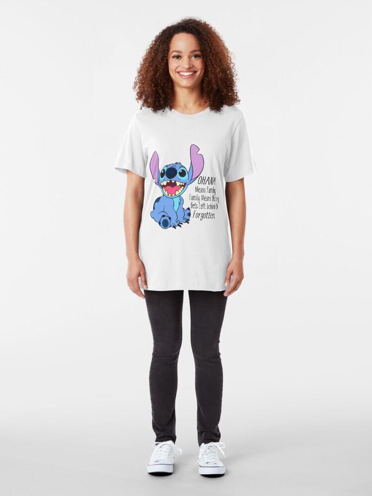 Alternative Ansicht von Lilo und Stitch Slim Fit T-Shirt
