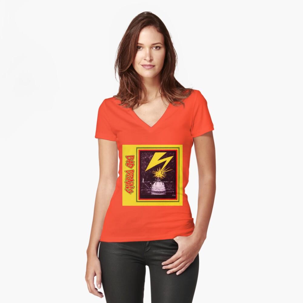 Gehirne Capitol Blitz Tailliertes T-Shirt mit V-Ausschnitt