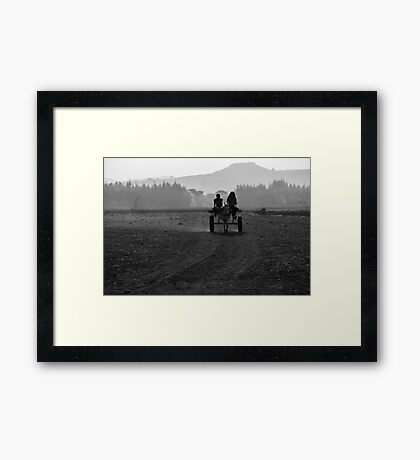 on the way Framed Print
