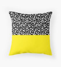 Memphis Black and Yellow 80s Throw Pillow