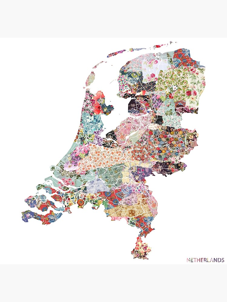 Netherlands map by FlowersMaps