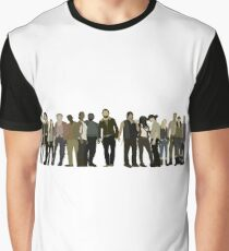 The Walking Dead Cast Graphic T-Shirt