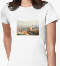 Flying hot air balloon over the Cappadocia Women's Fitted T-Shirt
