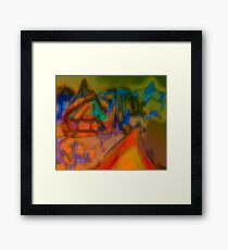 Colorful Abstract Art Laptop Skin Framed Print