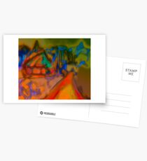 Colorful Abstract Art Laptop Skin Postcards