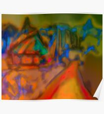 Colorful Abstract Art Laptop Skin Poster