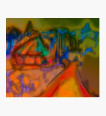 Colorful Abstract Art Laptop Skin Photographic Print