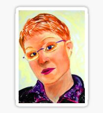 Cardboard Self Portrait Sticker