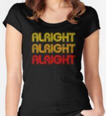 Benommen und verwirrt - Alles klar Alles klar Tailliertes Rundhals-Shirt