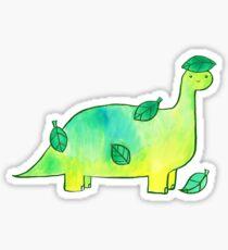Pegatina Hoja de dinosaurio acuarela