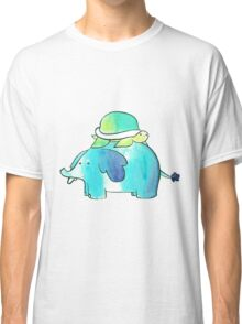 Turtle and Elephant Watercolor Classic T-Shirt