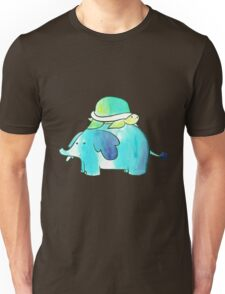 Turtle and Elephant Watercolor Unisex T-Shirt