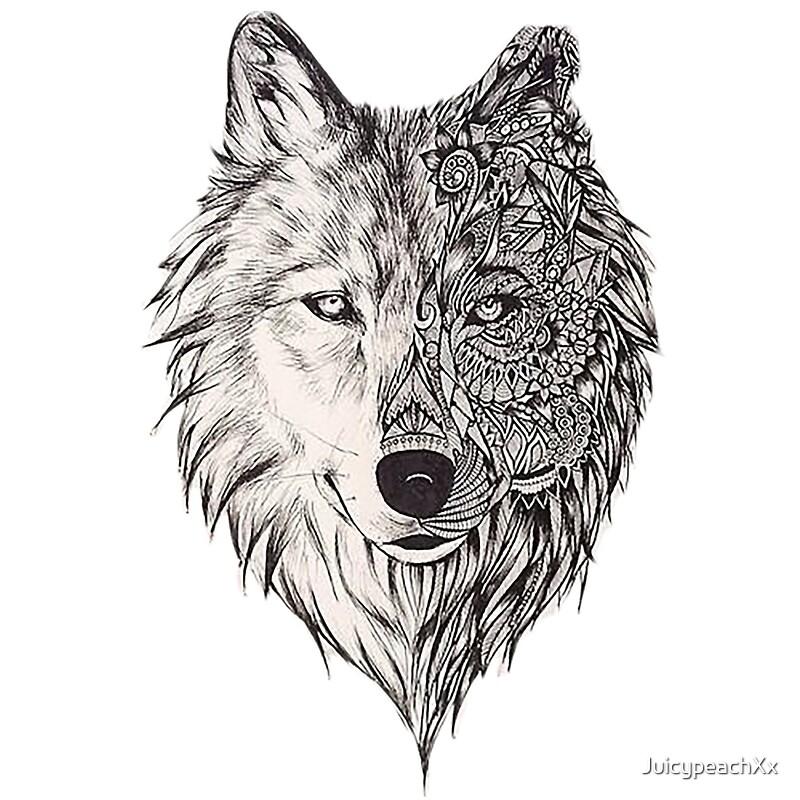 Quot Mandala Wolf Vol 2 Quot Canvas Prints By Juicypeachxx Redbubble