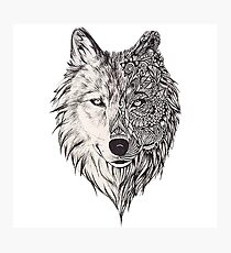 Mandala wolf vol.2 Photographic Print