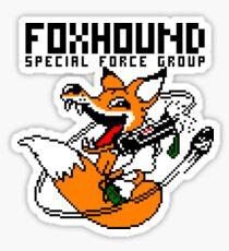 FOXHOUND PIXELART FOX BLACK Sticker