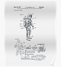 Space Suit Patent 1967 Poster