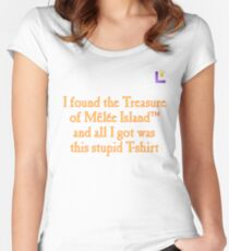 MONKEY ISLAND TREASURE TROVE Women's Fitted Scoop T-Shirt