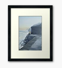 Falmouth Sea front Couple in love Framed Print