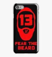 James Harden Fear The Beard - Red iPhone Case/Skin