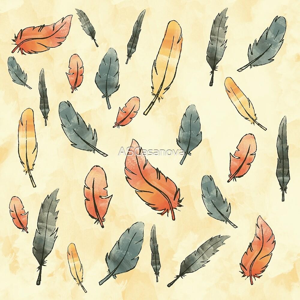 A rain of feathers by ASCasanova