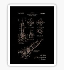 Space Rocket Patent 1967 Sticker