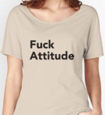 Camiseta ancha para mujer Camiseta Fuck Attitude