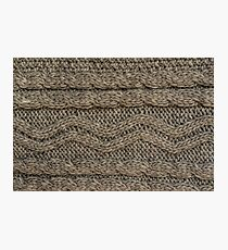 Background: knitted texture Photographic Print