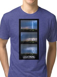 Lightning - Atmospheric Electrostatic Discharge. Tri-blend T-Shirt