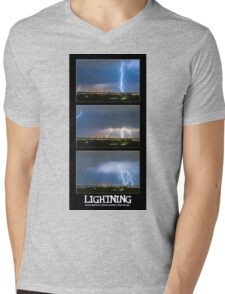 Lightning - Atmospheric Electrostatic Discharge. Mens V-Neck T-Shirt