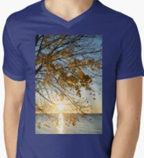 Brilliant Yellows and Blues - the Golden Maple on the Lake Shore T-Shirt