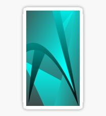 Cyan Spike Wave Sticker
