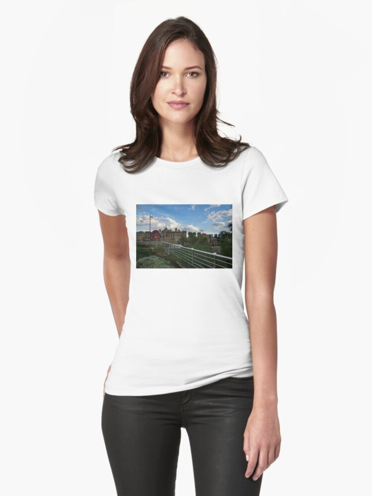 London Underground and the Tower of London Womens T-Shirt Front