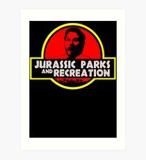 Jurassic Parks and Recreation Art Print