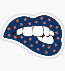 Blue & Orange Lip Bite Sticker