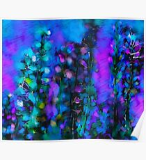 Abstract Art Floral Duvet Cover Poster