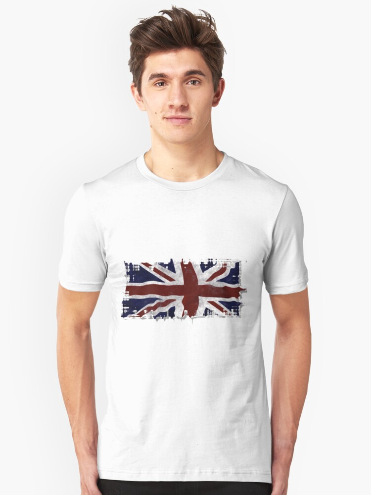 Patriotic Union Jack UK Union Flag Unisex T-Shirt Front