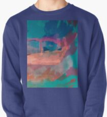 Abstract Laundry Boat in Blue, Green, Orange and Pink Pullover
